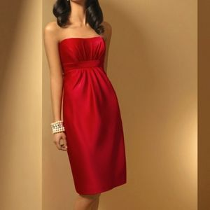 New Alfred Angelo Short Red Formal Dress 10